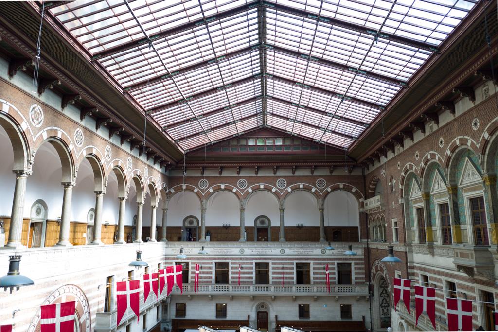 The big hall inside city hall