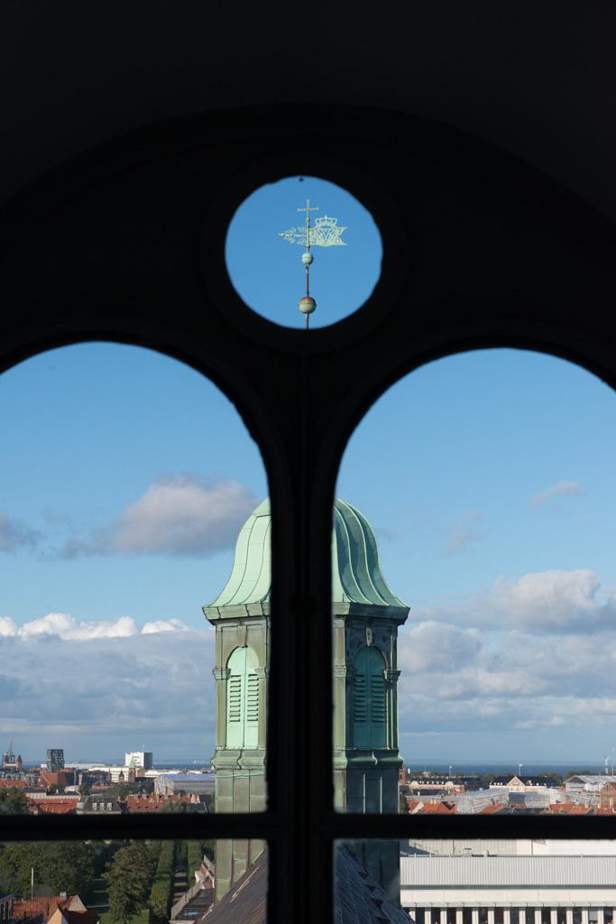 Look through a window of Rundetaarn